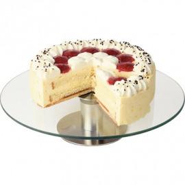 Rotačný stojan na koláče a pečivo - sklenené D 300 mm