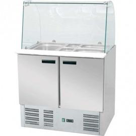 Chladiaci pult na šalát s príponou skla 240 l +2 / +8 c 900x700x1300 eco
