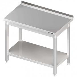 Stôl priečne s policou 600x600x850 mm skrutka