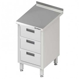 Stôl blok priečne s tromi zásuvkami 455x700x850 mm