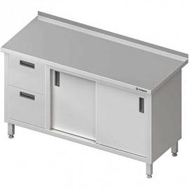 Stôl blok priečne s dvomi zásuvkami (l), posuvné dvere 1400x600x850 mm