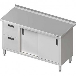 Stôl blok priečne s dvomi zásuvkami (l), posuvné dvere 1400x700x850 mm