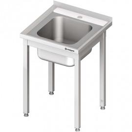 Stôl s umývadlom 1-kom, bez police 600x600x850 mm skrutka