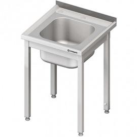 Stôl s drezom a otvor pre drvič, bez police 700x700x850 mm skrutka