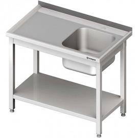 Stôl s umývadlom 1-kom (P), s policou 1000x600x850 mm skrutka