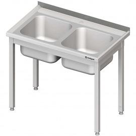 Stôl s umývadlom 2-kom, bez police 1000x600x850 mm skrutka