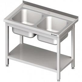 Stôl s umývadlom 2-com, s policou 1000x700x850 mm skrutka