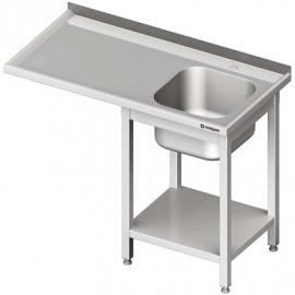 Stôl s umývadlom 1-kom (P) a priestor pre chladničku alebo umývačky riadu 1200x600x900 mm skrutka