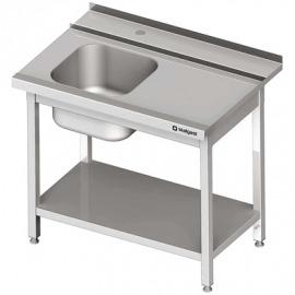 Stôl zaťaženie (p) 1-com. s policou umývačky silanos 800x700x880 mm skrutka