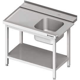 Stôl zaťaženie (L) 1-kom. s policou umývačky silanos 800x700x880 mm skrutka