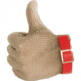 oceľové rukavice červené m